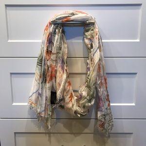 Floral pastel scarf